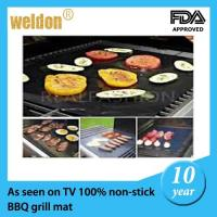 Buy cheap Reusable PTFE Coated Fabric BBQ Grill Mats Dishwasher / portable bbq grill from wholesalers