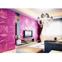 Quality Anti-Vibration Wall Background Modern 3D Wall Panels for Living Room / Bedroom for sale