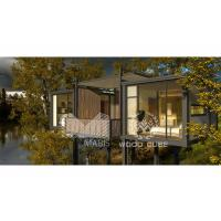 Buy cheap 2 Bedroom Prefab Garden House , Thermal Insulation Prefab Log Cabin Homes from wholesalers