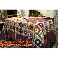 Buy cheap Handmade Crochet Yarn Baby Sheet Blankets Granny Square Afghan Coverlet Table Clothes from wholesalers