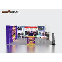 Buy cheap Aluminum Frame Standard Exhibition Booth Size / Modular Trade Show Exhibition Stands from wholesalers