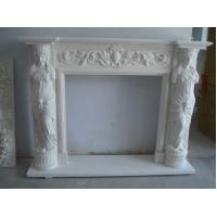 Buy cheap American Style Stone Fireplace Sculpture With Lady from wholesalers