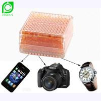 Buy cheap 45gram Indicating Orange Silica Gel Plastic Micro Heat Desiccant Dryer Box For Carmera from wholesalers