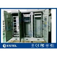 Buy cheap Triple Bay Racking Outdoor Telecom Enclosure With Air Conditioner Cooling System from wholesalers