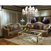 Buy cheap Luxury Design and Romantic Sofa set made by Wooden Carving Frame with Fabric Upholstery from wholesalers