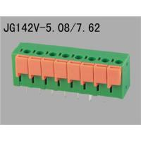 Buy cheap spring terminal block, 5.08mm or 7.62mm pitch,  best price best quality to you all JG142V-5.08 7.62 from wholesalers