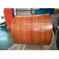 Buy cheap Wooden Grain Color Coated Steel Coil For Department Store Roofing Tiles from wholesalers