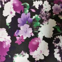 Buy cheap Elegant 240GSM Floral Jersey Knit Fabric , 100% Polyester Jersey Fabric from wholesalers
