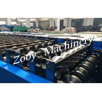 Top quality Manual ,  Automatic Decoiler Roof Tile Roll Forming Machine With 5-15m/min Forming Speed for sale