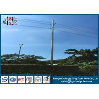 Galvanized Polygonal Steel Tubular Pole For Philippines ASTM A123 13.8kv