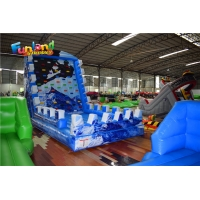 Buy cheap Floating 0.4mm PVC tarpaulin 7mH Inflatable Rock Climbing Wall from wholesalers