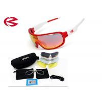 Buy cheap Prescription Wrap Around Sport Sunglasses With 5 Interchangeable Lenses from wholesalers