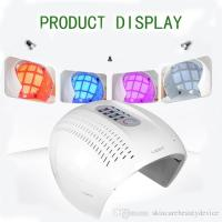 Buy cheap PDT LED light therapy face mask red blue purple light treatment 3 colors LED face beauty equipment acne remover from wholesalers