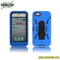 Buy cheap PC+silicone case for iphone5, double color case with stand product