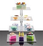 Buy cheap plexiglass wholesale acrylic wedding cake display rack from wholesalers