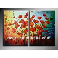 Buy cheap Beautiful flower handmade group flower oil painting for wall decoration from wholesalers