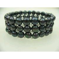 Buy cheap Black Freshwater Pearl Bracelets from wholesalers
