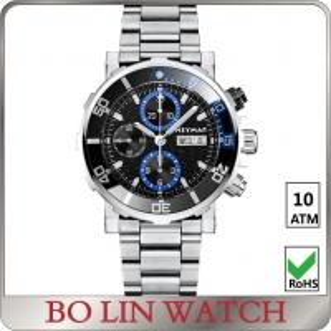China Sunburst Dial Effect Fashion Water Resistant Sports Watch , Quartz Chronograph Watch For Men on sale