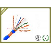Buy cheap SFTP 23AWG 4Pairs 8 Conductors Indoor CAT6 Network Lan Cable with  Bare Copper  PVC/LSZH Jacket from wholesalers