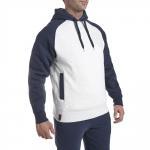 Buy cheap Winter Blank Men Hoody Sweater Custom Hoodies Wholesales 100% cotton fleece hoodies men white&blue from wholesalers