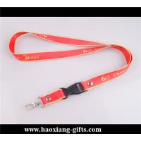 Buy cheap 20*900mm custom logo with metal buckle Woven Lanyard For Promotion from wholesalers