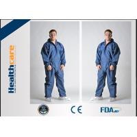 Buy cheap Breathable Disposable Coveralls Protective Suit With Hood And Boot Cover Acid Resistant from wholesalers