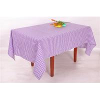 Buy cheap Elegant Style Purple And White Checkered Table Cloth 54x72 72x108 Inch from wholesalers