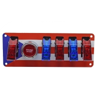 Buy cheap 12V Switch Panel Puerto Rican Flag, Push Start, 1 WHITE/4 RED LED Toggle Switch from wholesalers
