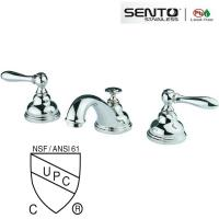 Buy cheap Classic style double handle basin faucet for bathroom design from wholesalers
