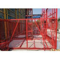 Buy cheap Vertical Handling Construction Hoist Safety / Temporary Construction Elevator from wholesalers