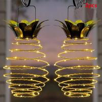 Buy cheap Pineapple Hanging Solar Lights,Home Garden Solar Powered LED Lights from wholesalers