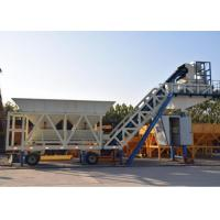 Buy cheap Ready Concrete Batch Mix Plant Movable With Cement Silos 30kw Mixer Power from wholesalers