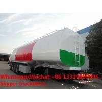 Buy cheap 4 Axles Semi Trailer Steel Fuel Tanker Manufacturers With BPW Axles, CLW brand 4 axles 35m3-70m3 oil tank semitrailer from wholesalers