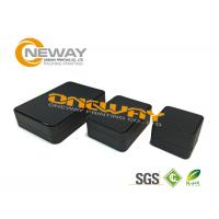 Buy cheap Unique Soft Crease Small Paper Black Packing Boxes UV offset printing from wholesalers