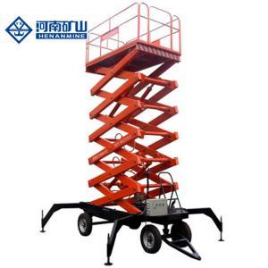 China 3 Phase 380v 50hz Scissor Lift Equipment , 14m 230kg Scissor Work Platform on sale