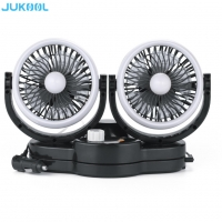 Buy cheap Twin Head 5 Inch 12 Volt ABS Rechargeable Electric Fan product