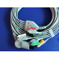 Buy cheap round 6pins ecg cable(spacelabls,colin,csi,datascope,nihon kohen,philips,goldway) from wholesalers