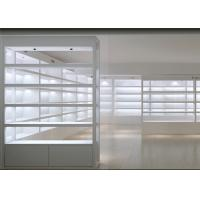 Buy cheap Simple White Cosmetics Display Cabinet ,  Makeup Retail Display For Skin Care Shop from wholesalers