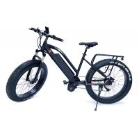 Buy cheap High Speed  48v 1000w Bafangcentral motor  Mountain Electric Fat Bike with front  suspension fork and LCD color display from wholesalers