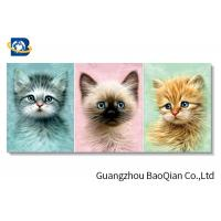 Buy cheap Home / Hotel Wall Photo 3D Effect Printing Lovely Cat / Dog Stereograph from wholesalers