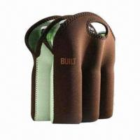 6-pack brown neoprene bottler cooler