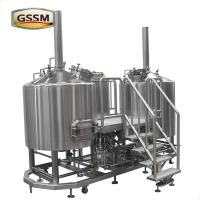 Buy cheap Stainless Steel Micro Brewing Equipment , Direct Fired 30 BBL Brewhouse For Hotel / Bar product