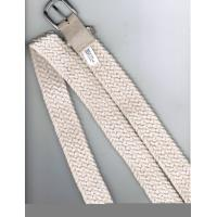 Buy cheap Custom Cotton braiding fashion cloth belts for women , 3 - 5cm width white belt from wholesalers