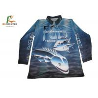 Buy cheap Long Sleeve Sports Printed Polo Shirts For Men 100 Percent Polyester Fishing Jersey from wholesalers