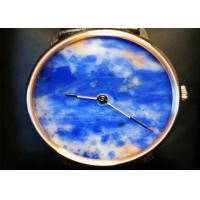Buy cheap Charming Natural Stone Crafts Quartz Movement Watch With Natural Marble Dial from wholesalers