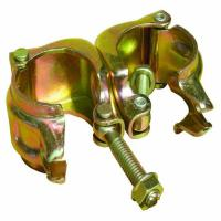 Buy cheap Forged Swivel Coupler Scaffolding Double Coupler Galvanized EN74 Drop Forged 48.3×48.3MM from wholesalers