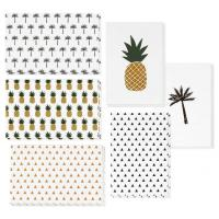Buy cheap 4x6 Inch Holiday Greeting Cards Pineapple / Palm Tree / Triangle Pattern Available from wholesalers