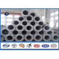 10M Galvanized tubular steel pole 110kv Voltage Painting Surface Coating