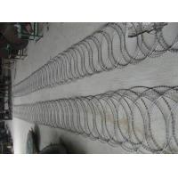 Buy cheap PVC Prison Razor Barbed Wire Fence , Green Color Concertina Wire Fencing from wholesalers