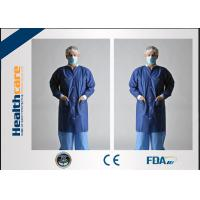 Buy cheap Economical Lint Free PP Disposable Lab Coats With Knitted Collar and Velcro from wholesalers